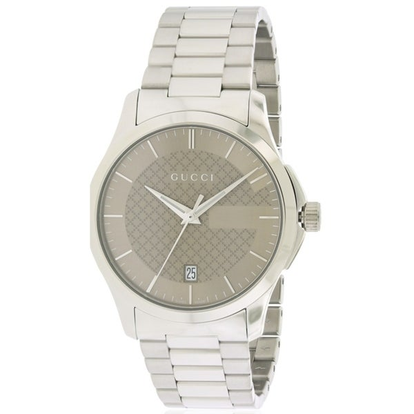 407211165e3 Shop Gucci G-Timeless Stainless Steel Unisex Watch - Free Shipping Today -  Overstock - 17211506