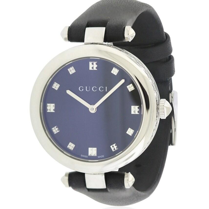 Gucci Diamantissima Leather Ladies Watch YA141403, White,...