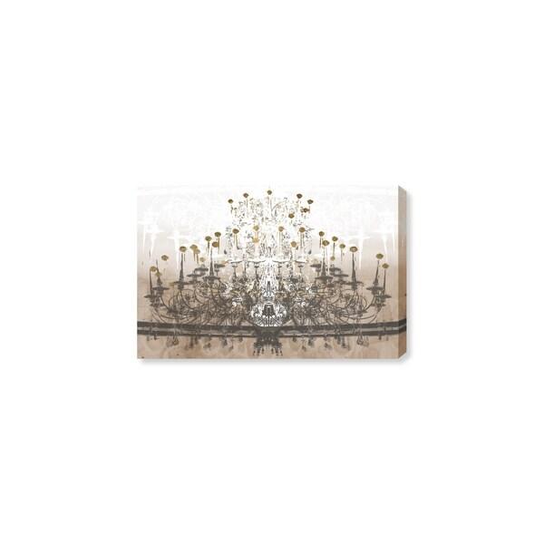 Oliver Gal 'Golden Gala Chandelier' Canvas Art