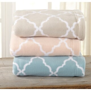 Great Bay Home Super Soft Extra Plush Cloud Lattice Polar Fleece Sheet Set