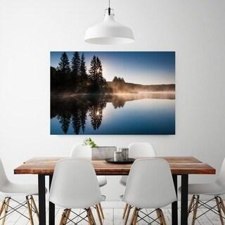Noir Gallery Spruce Knob Lake Sunrise in West Virginia Photo Print on Metal.