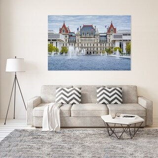 Noir Gallery The New York State Capital in Albany Photo Print on Metal.