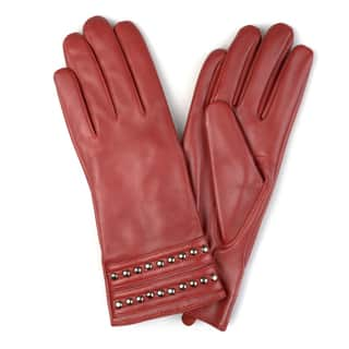 Journee Collection Women's Fashion Genuine Leather Studded Gloves|https://ak1.ostkcdn.com/images/products/17211685/P23469509.jpg?impolicy=medium