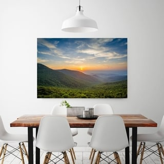 Noir Gallery Shenandoah National Park Mountains Sunset Photo Print on Metal.