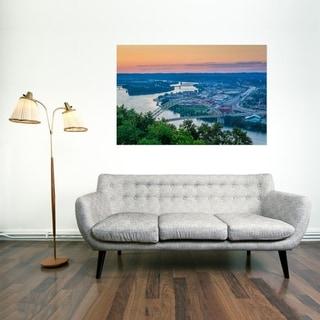 Noir Gallery Pittsburgh Ohio River Sunset Photo Print on Metal.
