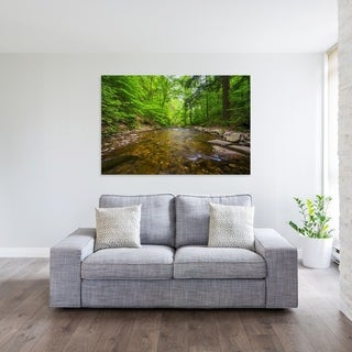 Noir Gallery Ricketts Glen Creek in Pennsylvania Photo Print on Metal. (4 options available)