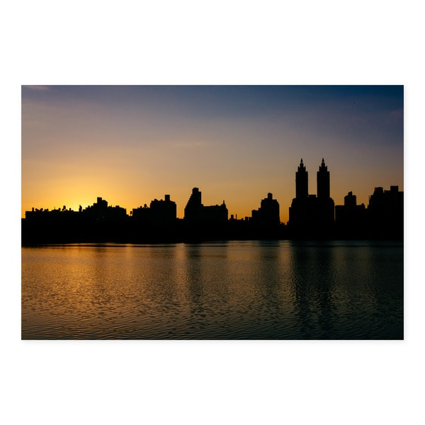 Noir Gallery Central Park Reservoir Sunset in New York Photo Print on Metal.