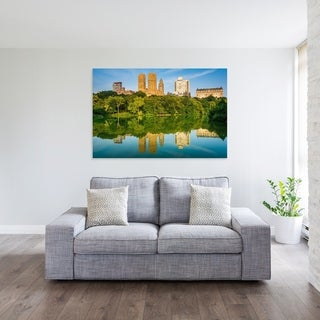 Noir Gallery The Lake at Central Park in New York Photo Print on Metal.