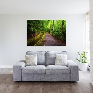 Noir Gallery Great Smoky Mountains Mingus Mill Trail Photo Print on Metal.