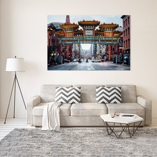 Noir Gallery Washington, DC Chinatown Friendship Arch Photo Print on Metal.