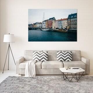 Noir Gallery Copenhagen, Denmark Nyhavn Canal Photo Print on Metal.