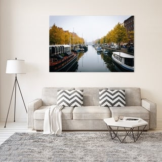 Noir Gallery Copenhagen Canal with Fall Color Photo Print on Metal.