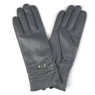 Journee Collection Women's Fashion Genuine Leather Gloves