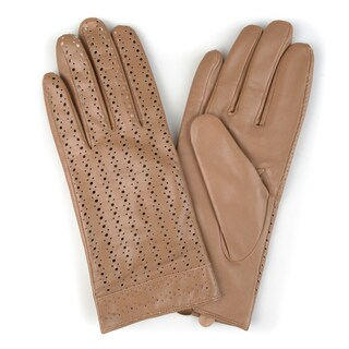 Journee Collection Women's Fashion Genuine Leather Gloves (More options available)