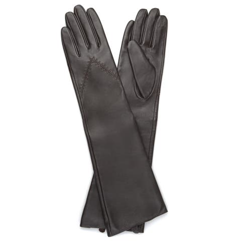 0078dda3b9645 Journee Collection Women's Fashion Long Genuine Leather Gloves