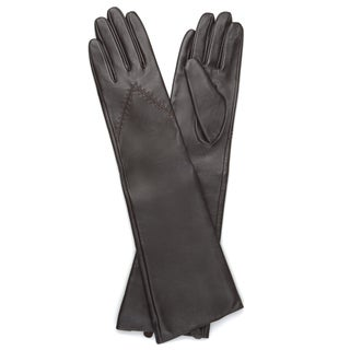 Journee Collection Women's Fashion Long Genuine Leather Gloves (5 options available)