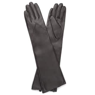 Journee Collection Women's Fashion Long Genuine Leather Gloves