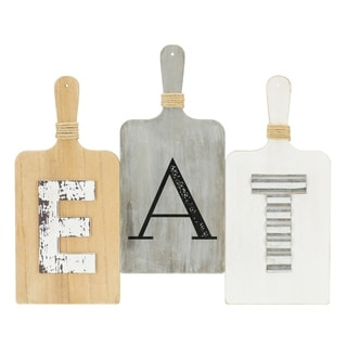 EAT Wall Décor Wooden Plaque - N/A