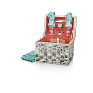PICNIC TIME® 'Napa' Wine & Cheese Basket, (Watermelon Collection)