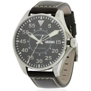 Hamilton Khaki Pilot Men's Stainless Steel Brown Leather Watch