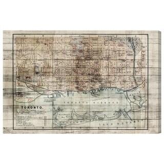 Oliver Gal 'Vintage Toronto Map' Canvas Art