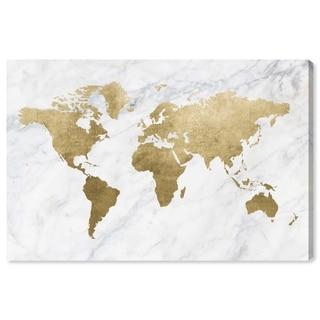 Oliver Gal 'Mapamundi Marble' Canvas Art