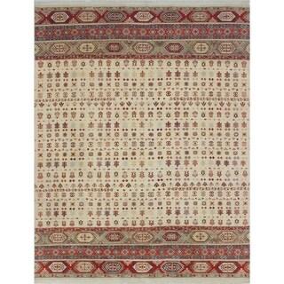 Khurgeen Habib Ivory/Rust Rug (8'11 x 11'7)