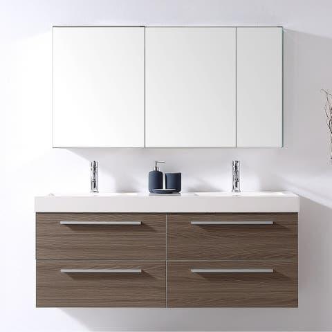 Finley 54-in Double Bathroom Vanity Set