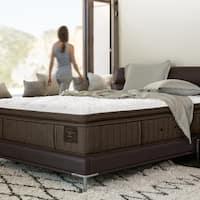 Stearns & Foster Oak Terrace 14.5-inch Luxury Plush Euro Pillow Top Queen-size Mattress Set