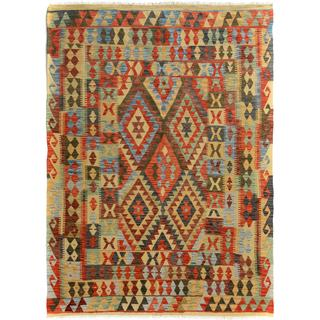 Arshs Fine Rugs Arya Collection Agustin Wool Handwoven Rug (5'0 x 6'5)