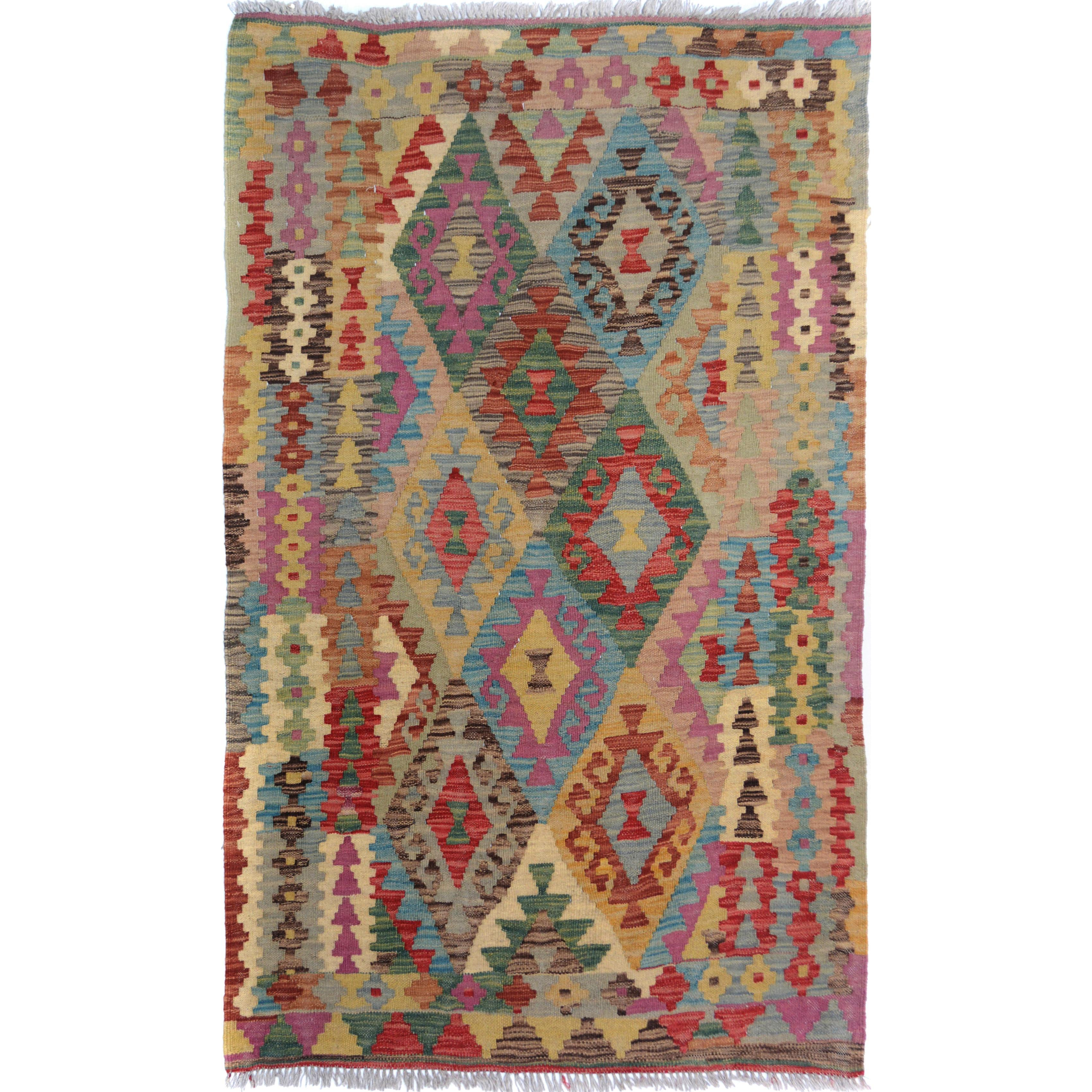 Arshs Fine Rugs Arya Collection Timmy Beige/Blue Wool Han...