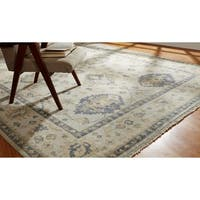 Umbria Ivory Wool Hand-knotted Rug (9' x 12')