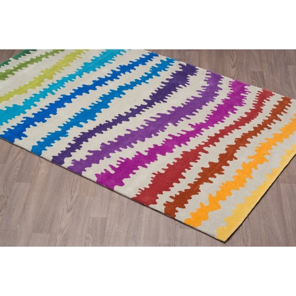 Handmade Elecktra Multicolored Wool Rug
