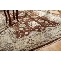 Umbria Brown Wool Hand-knotted Rug (8' x 10')