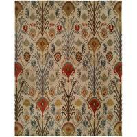 Heirloom Multicolored Wool Hand-tufted Rug - 9' x 12'