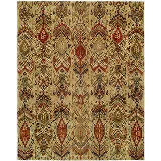 Hand-Tufted Heirloom Ivory Ikat Wool Rug (9'6 x 13'6)