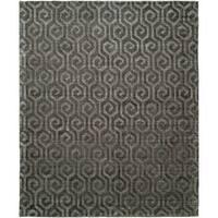 Avalon Grey Wool Handmade Rug - 8' x 10'