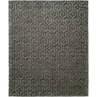 "Handmade Avalon Pewter Runner Rug (2'6 x 10') - 2'6"" x 10'"