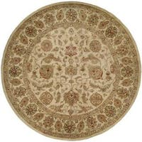 Empire Ivory Hand-tufted Area Rug (4' Round)