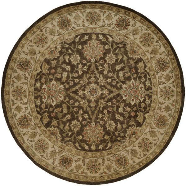 Empire Brown/Ivory Hand-tufted Area Rug (4' Round)