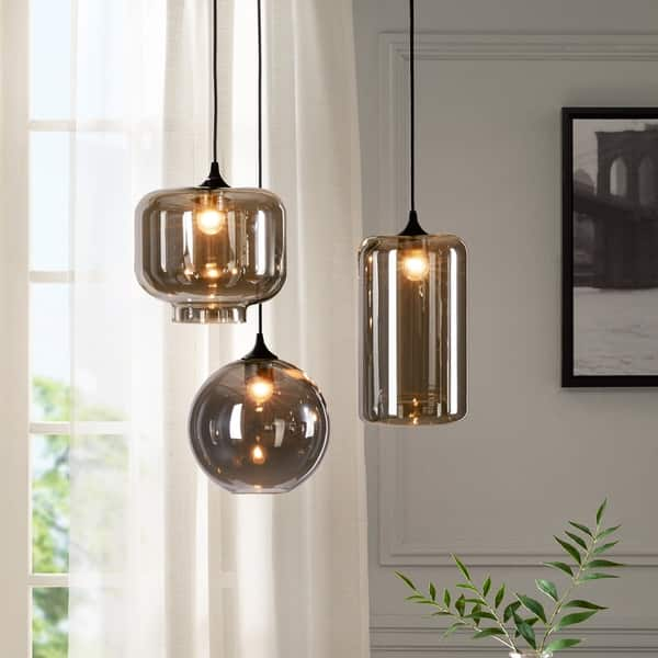 Urban Habitat Irene Grey 3 Light Pendant On