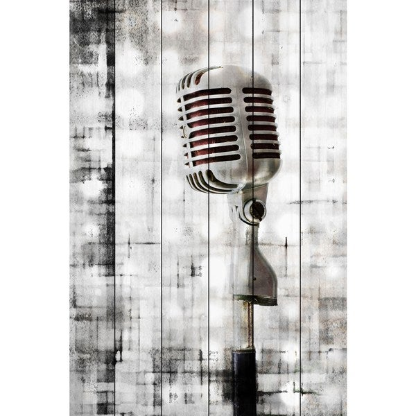 Marmont Hill - Handmade Mic Painting Print on White Wood