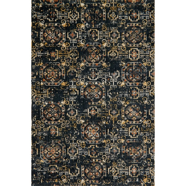 "Microfiber Transitional Medallion Marrakesh Tile Rug - 6'7"" x 9'2"""