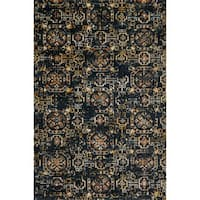 Microfiber Transitional Medallion Marrakesh Tile Rug - 6'7 x 9'2