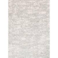 "Microfiber Verona Grey Paisley Rug (7'10 x 10'10) - 7'10"" x 10'10"""