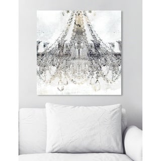Oliver Gal 'White Gold Diamonds Square' Canvas Art