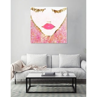 Oliver Gal 'Goldbloom Coveted Square' Canvas Art