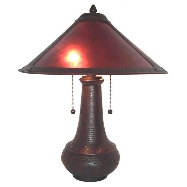 Onion Pot Mica Table Lamp