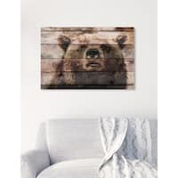 Oliver Gal 'Bear On Watch' Canvas Art