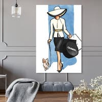 Oliver Gal 'Go For a Walk' Canvas Art